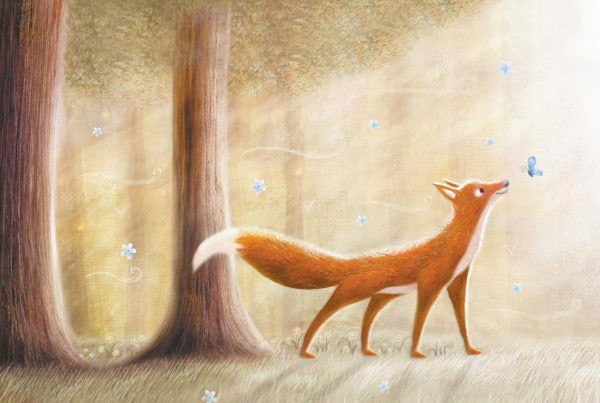 Fox illustration by PS Brooks for book
